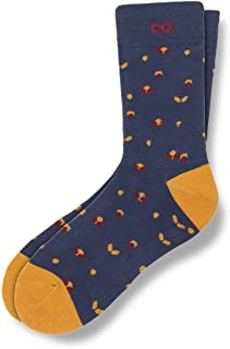 Men's Patterned Crew Socks – Sneaky Performance Casual Socks for Men – Ready for Everything