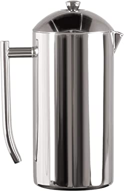 Frieling USA Double-Walled Stainless-Steel French Press Coffee Maker, Polished, 36 Ounces