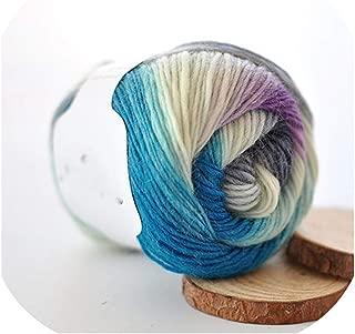 50g(180m)/Ball Rainbow Hand Knitting Merino Wool Yarn Fancy Dye Crochet Yarn DIY Scarf Shawl Yarn for Hand Knitting,07