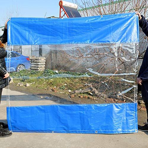 YUDEYU Dicke 0,5 Mm Wasserdicht Plane Schutz Im Freien Zaunstoff Regenfester Schuppen Imbissbude Vorhang Gartenwindschutzscheibe Warm Halten (Color : Blue Edge, Size : 2x4m/0.5mm)