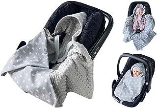 babees© einschlagdecke Minky Baby Carcasa Auto asiento techo [estrellas gris + Gris]