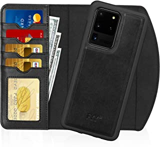 """FYY Case for Galaxy S20 Ultra 6.9"""", 2-in-1 Magnetic Detachable Wallet Case [Wireless Charging Support] with Card Slots Fol..."""