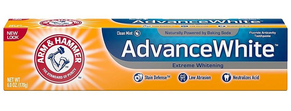 ペック試用エンドテーブルArm & Hammer Advance White, Baking Soda & Peroxide, Size: 6 OZ by CHURCH & DWIGHT [並行輸入品]