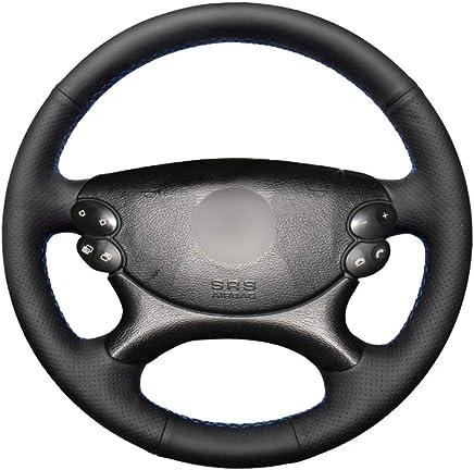 DYBANP Cubierta del Volante de Cuero Hecha a Mano para Mercedes Benz Clase E W211 E230
