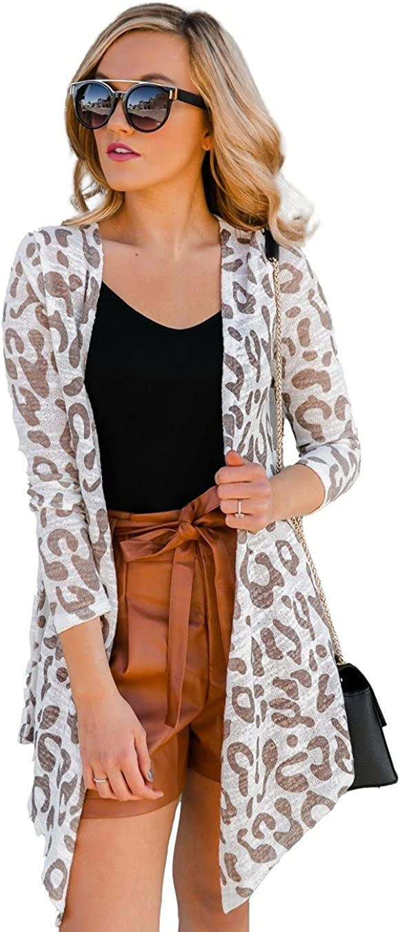 Gameday Couture Women's Leopard Lightweight Duster Length Cardigan