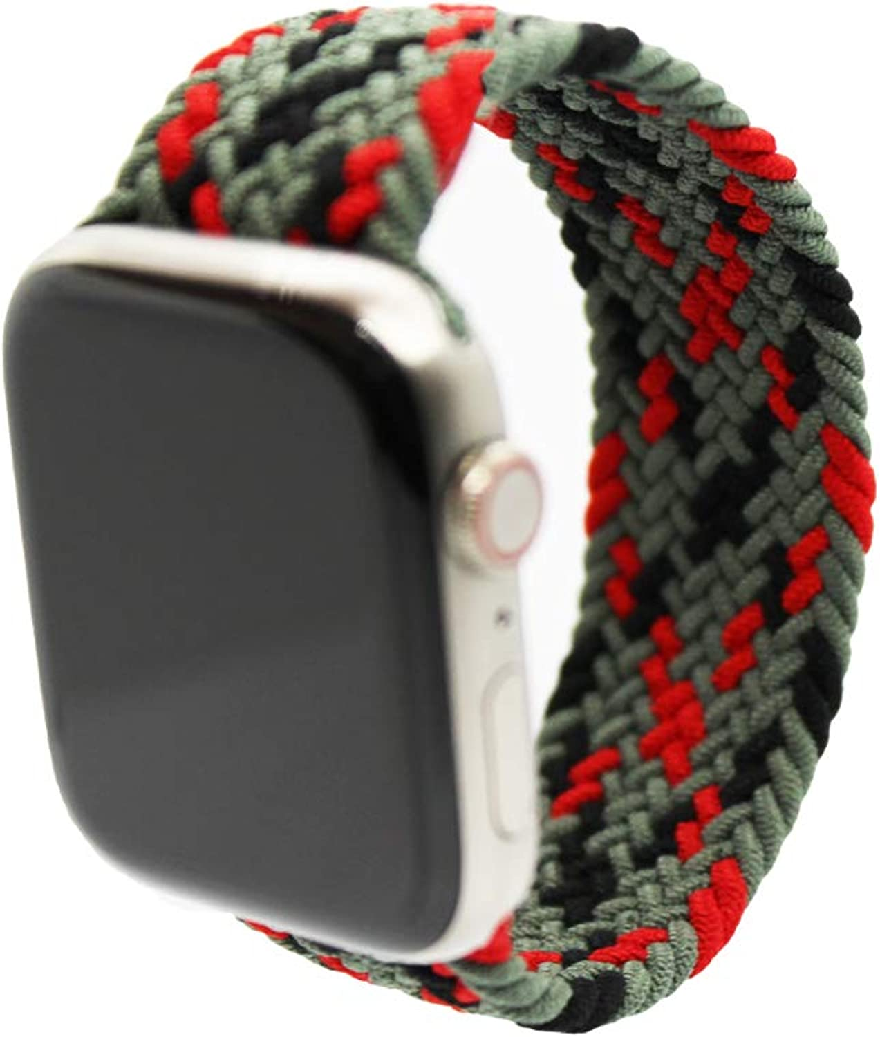NR Solo Loop Braided Band Compatible for Apple Watch. Watch size 38mm 40mm 42mm 44mm, Soft Stretchy Braided band for Apple Watch Series 1/2/3/4/5/6/SE.