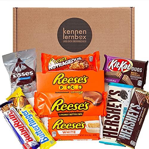 Schoko Box   Kennenlernbox mit 10 beliebten Schokolade aus Amerika   Geschenkidee für besondere Anlässe