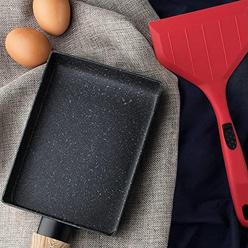 XGLIPQ Juego Combinado de tamagoyaki de Silicona de Cocina Simple y Creativo, panqueque de Pizza, Juego práctico. El Material es Suave, no daña la Olla, Tiene un Agarre cómodo y es fácil de Limpiar.