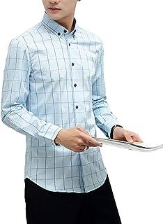 [スカイシイ] 6カラー チェックシャツ お洒落ボタン カジュアル オックスフォードシャツ メンズ S~3XL