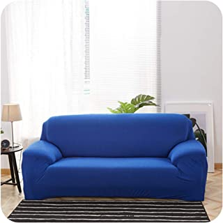 Romantic-cottage Solid Color Spandex Modern Polyester Corner Sofa Couch Slipcover Chair Protector Living Room 1/2/3/4 Seater-in Sofa Cover,Lake Blue,45-45cm 2-Pillow