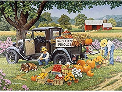 Bits and Pieces - 2000 Piece Jigsaw Puzzle for Adults - Home Grown - 2000 pc Fall on The Farm Jigsaw by Artist John Sloane by Melville Direct