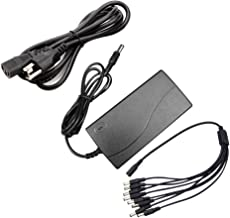 Antoble DC 12V 5A Power Supply AC Adapter + 8 Split Power Cable Cord for CCTV Security Camera DVR Surveillance System