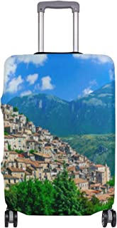 Mydaily Beautiful Italy Villages Luggage Cover Fits 18-32 Inch Suitcase Spandex Travel Baggage Protector