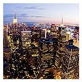 Bilderwelten Fotomural - New York skyline at night - Mural cuadrado papel pintado fotomurales murales pared papel para pared foto 3D mural pared barato decorativo, Dimensión Alto x Ancho: 192cm x 192cm