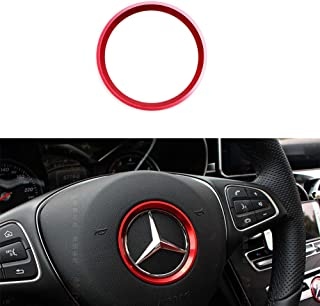 Black /& Red Diameter 36-42 CM//14.2-16.5 Inch fits for Truck SUV Cars Car Steering Wheel Cover Leather