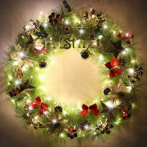 AX-ornament 45CM garland rattan door sill window decoration variety of optional Christmas decorations/with lights 4