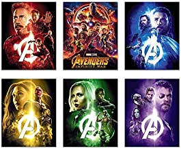Avengers Infinity War Movie Poster Prints 8x10 - Set of 6 Wall Art Photos