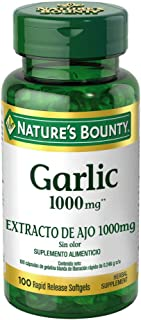 Nature's Bounty Garlic Pills and Herbal Health Supplement, Supports Circulatory Function, 1000mg, 100 Softgels, 3 Pack