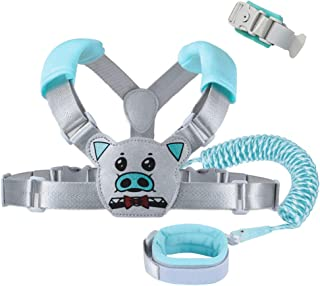 Child & Kids Backpack Leash for Toddlers | Baby & Kid Leash Harness - 2in1 Backpack Leash & Wrist Link Mode - Blue