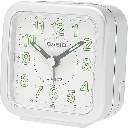 CASIO(カシオ) 目覚まし時計 シルバー 6.7×6.4cm アナログ ミニサイズ TQ-141-8JF