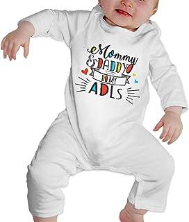 DJNGN Mama und Papa Machen Mein ADLS Baby Langarm Bodysuit Baumwolle Kleinkind Strampler Overalls für Jungen Mädchen