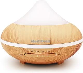 Diffuseur d'Huiles Essentielles MadxfroG 200ml Humidificateur d'air Ultrasonique Diffuseur Aromathérapie Electrique