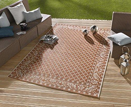 Teppich / moderner Teppich / Wohnzimmerteppich Outdoorteppich - für Balkon oder Terasse - für In und Outdor geeignet - der Hingucker zu Ihren Gartenmöbel - Royal terra - ca. 160 x 230 cm