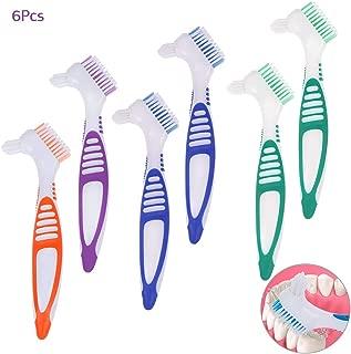 Artibetter 2Pcs Denture Brush Hygiene Denture Cleaner Double-Sided for Denture Care