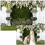 Cassisy 3x2m Vinilo Boda Telon de Fondo Al Aire Libre Elegante Boda Floral Arco Decoración romántica Fondos para Fotografia Party Los Amantes Photo Studio Props Photo Booth