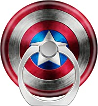 Universal Phone Grip Holder, Expanding Grip Socket for Cellphones,Rotation Pop Grip Holder for Phones, iPad and Tablet-Captain America Shield Icon