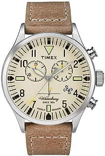 Timex Waterbury Watch TW2P84200 - Leather Gents Quartz Chronograph