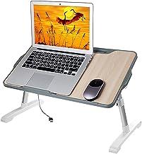Notebook Tafel Slaapzaal Bureau met Koelventilator Opvouwbare Laptop Lade voor Werken Lezen en Schrijven Eten in Bed, Sof...