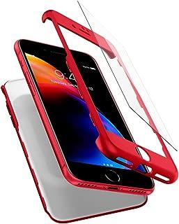 【Spigen】 スマホケース iPhone7 ケース 対応 360度保護 レンズ保護 衝撃 吸収 シン・フィット360 042CS21726 (レッド)