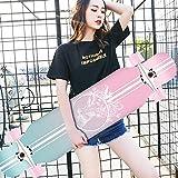 HUADUO Maple Longboard Skateboard Jungen und Mädchen Brush...