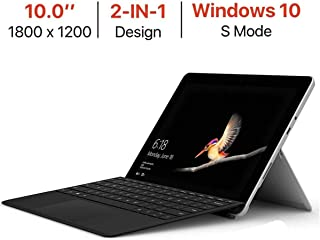 Microsoft Surface Go 10'' Touchscreen (1800x1200) PixelSense Display w/Surface Type Cover, Intel Pentium Gold 4415Y Facial Recognition USB-C Windows Ink Active Windows 10 S Mode Choose RAM & Storage