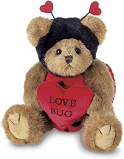 Bearington Love Bug Stuffed Animal Teddy Bear Holding Heart, 10 inch
