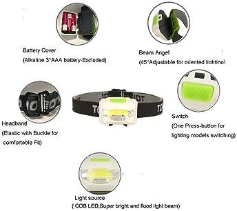 cob led headlamp headlight head lamp light torch flashlight portable 3 modes FEH