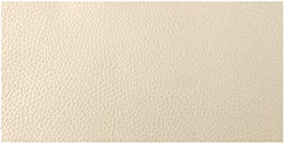 Beaulegan Leather Repair Patch - Self-Adhesive for Sofa, Car Seats and Bags, 8 Inch by 4 Inch, Litchi Grain & Beige