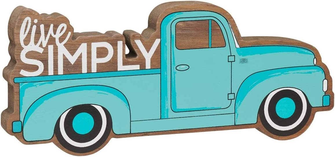 Collins Rustic Wooden Pickup Truck Simply Special price for a limited time Max 58% OFF Me Shelf Live Sitter