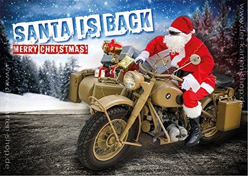 3 stuks A6 ansichtkaarten kerstkaart Kerstmis kerstmis kerstmis kerstmis op oude BMW, motorfiets