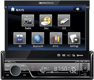 """Soundstream VIR-7830B Estéreo Multimedia para Caro con de LCD Touchscreen de 7"""", Single-DIN, Bluetooth, DVD"""