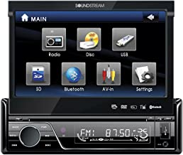 Soundstream VIR-7830B Single-Din Bluetooth Car Stereo DVD Player with 7-Inch LCD Touchscreen
