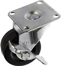 TOOLCRAFT TO-5137887 Zwenkwiel rubber met vastzetrem 50 mm met schroefplaat