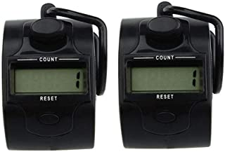 Electronic Tally Counters Digital LCD Electronic Hand Tally Counter for Tasbeeh Golf Dock Pack of 2