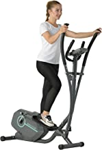 Murtisol Magnetic Elliptical Trainer Exercise Bike Machine with LCD Monitorer,8 Level Resistance,Heart Rate Pulse Grips,Phone & Pad Holder