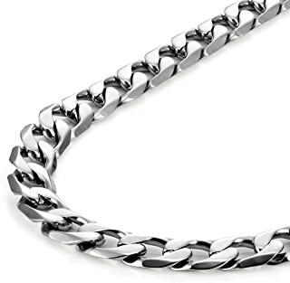 "Urban Jewelry Classic Mens Necklace 316L Stainless Steel Silver Chain Color 18"",21"",23"" (6mm)"