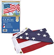 Annin Flagmakers Model 2720 American Flag Tough-Tex the Strongest, Longest Lasting 4x6 ft. 100% Made in USA with Sewn Stripes, Embroidered Stars and Brass Grommets