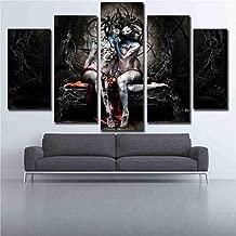 GIAOGE 5 Piezas Wall Art HD Print Película Imágenes de Personajes Pinturas en Lienzo Sala de Estar Decoración Heavy Metal Música Carteles enmarcados