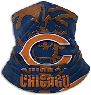 Chicago Bears Neck Warmer Winter Thicken Soft Elastic Fleece Skiing Face Scarf Mask