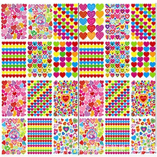 BLOUR 10 Unids/Lote Nuevas Pegatinas para niños Love Smiley Apple Bandera roja Etiqueta de Papel de recompensa de Dibujos Animados